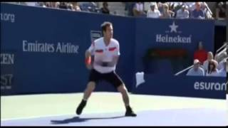 Andy Murray Goes Crazy and Smashes His Racquet! Knocked out of US Open Friday, 5th Sept 2013)