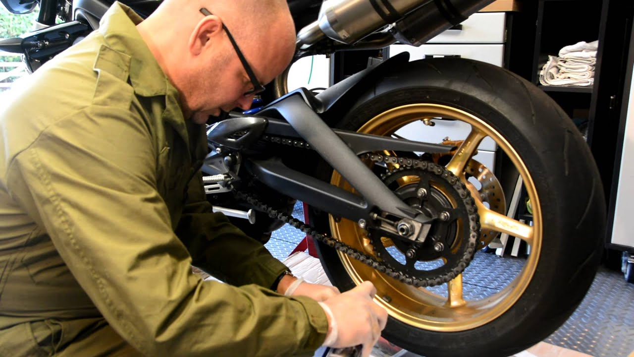 how to clean and lube motorcycle chain