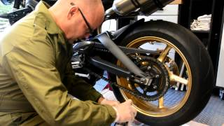 Street Triple R - Chain clean and lube