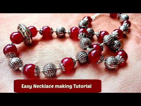 Easy Necklace making at home tutorial