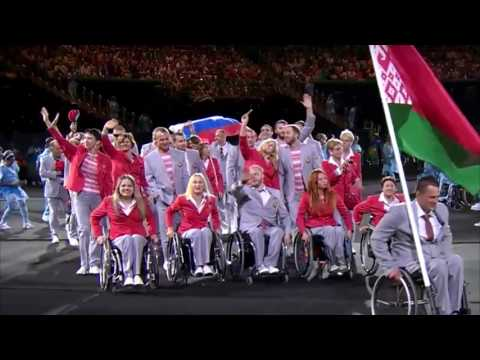 Сборная Беларуси пронесла Российский Флаг на Паралимпиаде 2016 в Рио де Жанейро!