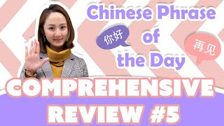 Learn Beginner Chinese | Chinese Phrase of the Day Challenge (COMPREHENSIVE REVIEW #5)