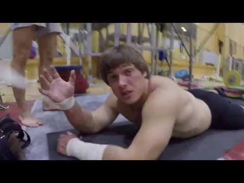 Weightlifting TrainingCampin Chehov, Russia.(with Lapikov, Klokov, Berestov) Day 1 [Eng sub]