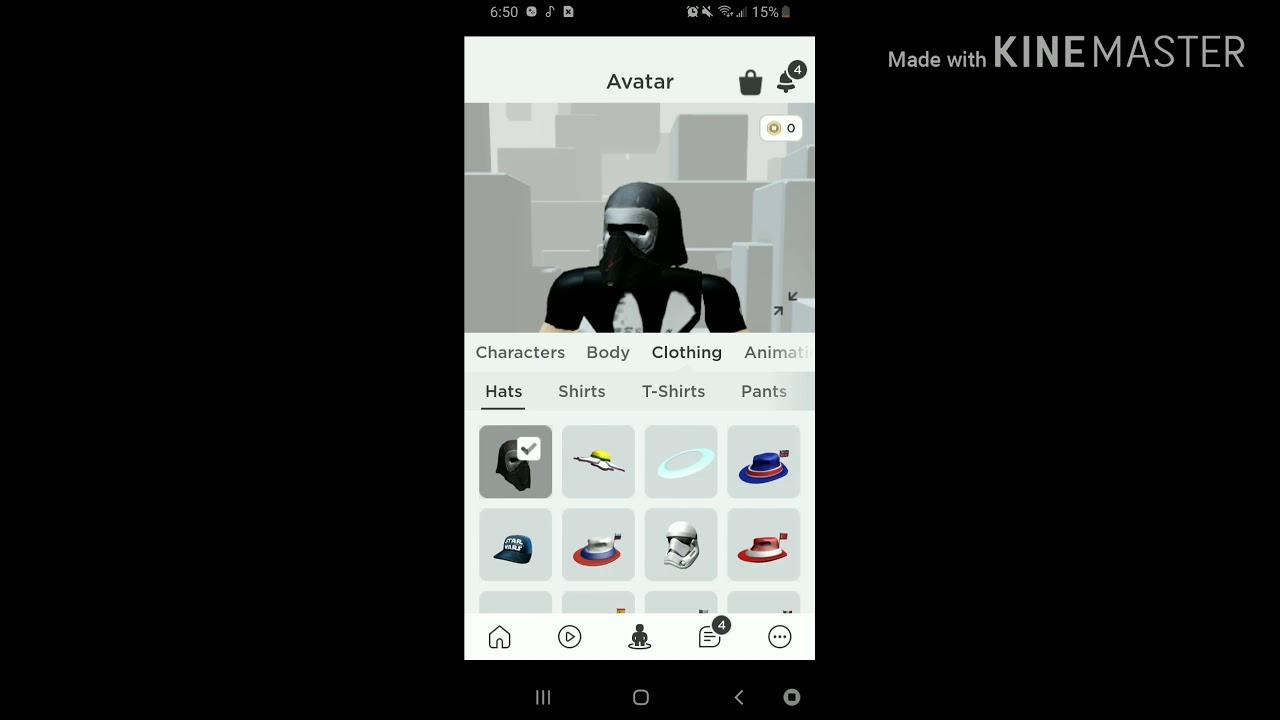 The Kylo Ren Helmet Free In Catalog Roblox Youtube
