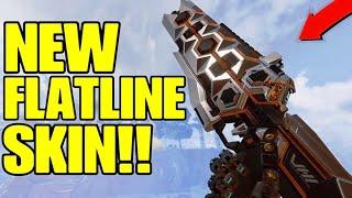 Apex Legends- New Season 4 Tier 100 Flatline Skin Gameplay! (Heavy Metal)