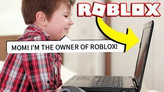 REACTING TO IF A KID OWNED ROBLOX!
