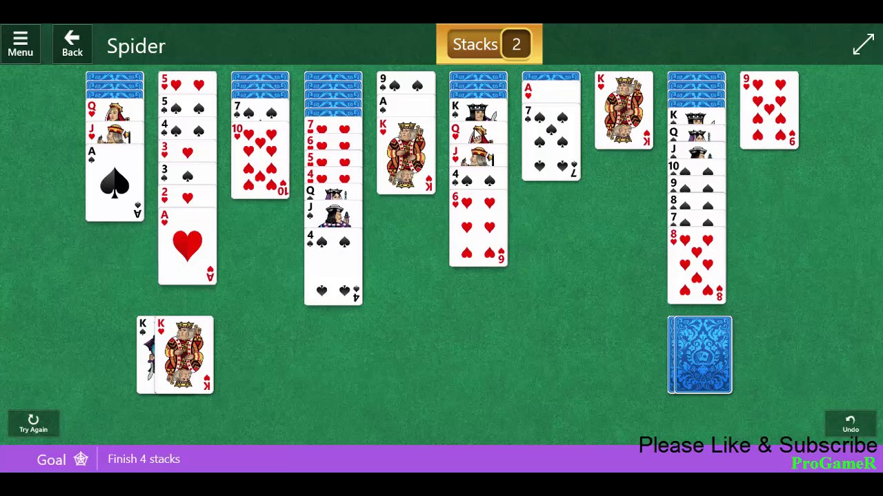 microsoft solitaire collection card games spider daily