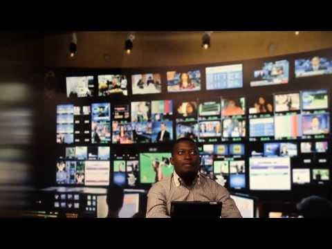 Dayo Israel anchor CNN Headline News for HLN at CNN Headquarters during visit to CNN Atlanta Office