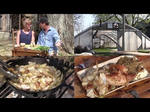 Cowboy Campfire Beer Braised Rabbit, Fried Cabbage, Growing Organic Veggies (Episode #415)