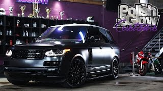 Range Rover Vogue gets wrapped in Satin Black | P&G Customs