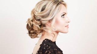 Прическа на новый год. Пучок из локонов. Hairstyle for the New Year. A Bundle of Curls(Подписывайтесь на мой канал http://www.youtube.com/user/4OXYGENE http://instagram.com/olyanaryzhnaya http://vpletaysya.ru http://vk.com/vpletaysya ..., 2014-12-21T09:14:56.000Z)