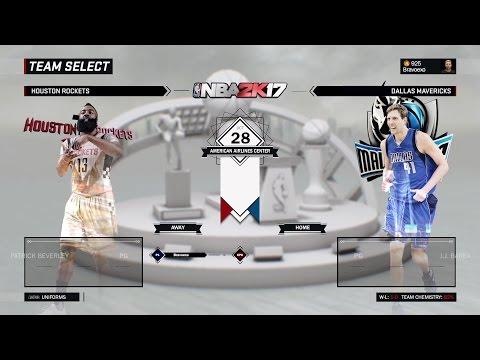 [NBA 2K17] Houston Rockets vs Dallas Mavericks [Oct 28][1080p60]