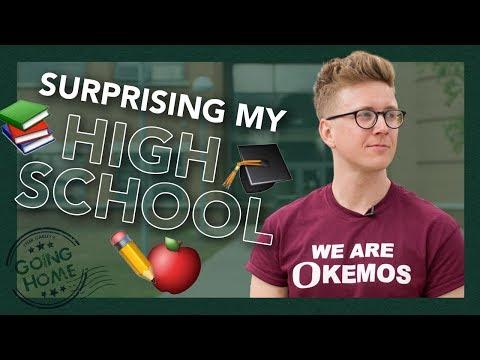 surprising my old high school (teachers, choir, students!)