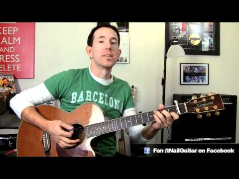 How To Play Party Rock Anthem - LMFAO ft. Lauren Bennett Acoustic Guitar Cover Tutorial Pt2