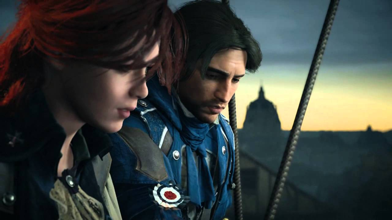 Assassin S Creed Unity Arno And Elise Love Scene Youtube
