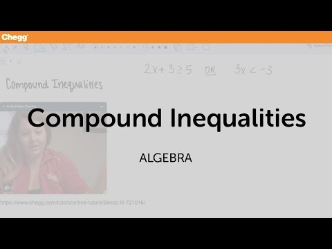 Compound Inequalities | Algebra | Chegg Tutors