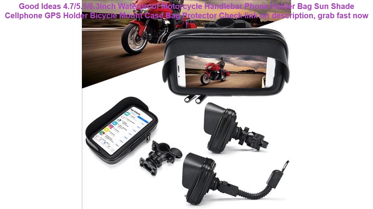 Waterproof Motorcycle Bicycle Cell Phone//GPS Holder Case Bag Mount For Handlebar