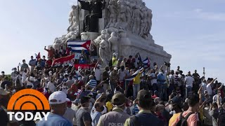 Cuba's Streets Filled With Protesters For Second Night