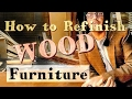 How to Refinish WOOD Furniture | Make your TABLE look new #finish #simple