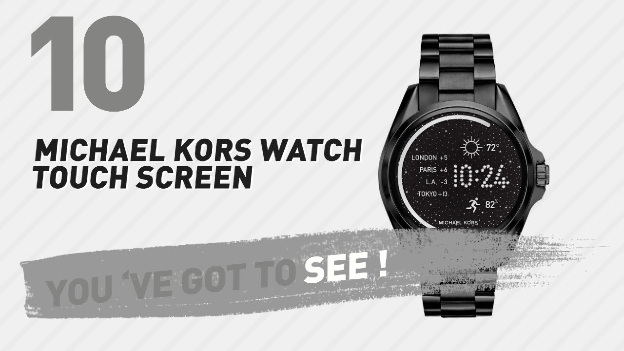 e38f3f62c8d3 Michael Kors Watch Touch Screen    New   Popular 2017 - YouTube