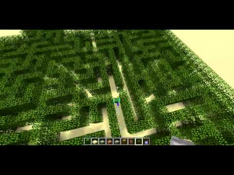 Maze-Solving Zombie -- Minecraft Trick Travel Video