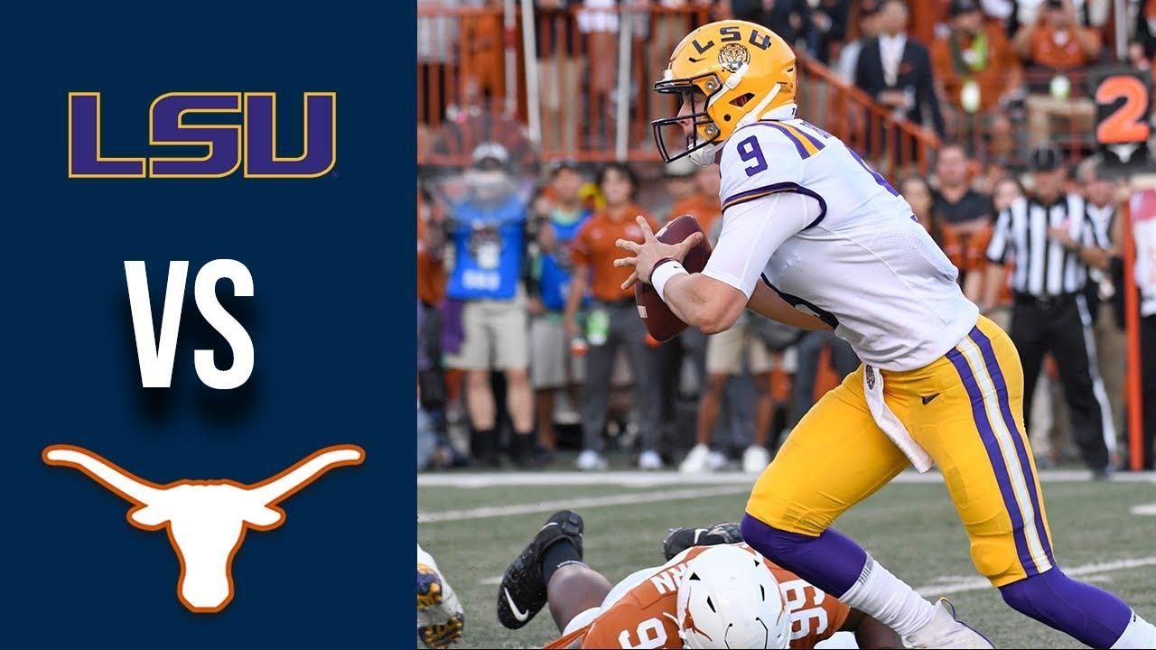 Week 2 2019 #6 LSU vs #9 Texas Full Game Highlights