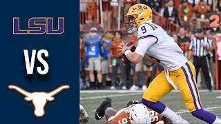 Week 2 2019 #6 LSU vs #9 Texas Full Game Highlights