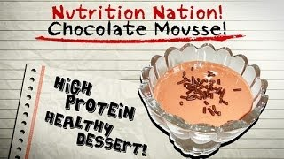 Chocolate Mousse- High Protein Healthy Dessert! Curb Your Sweet Tooth Temptations!