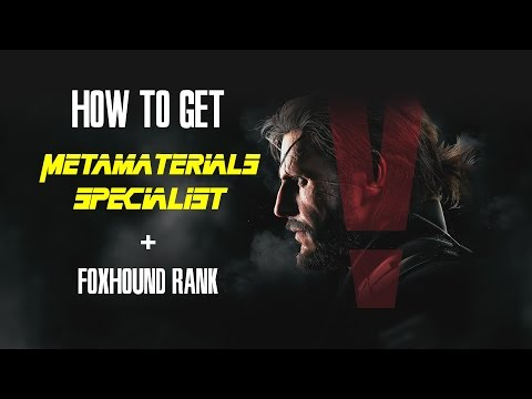 MGSV Metamaterials Specialist + Foxhound Rank