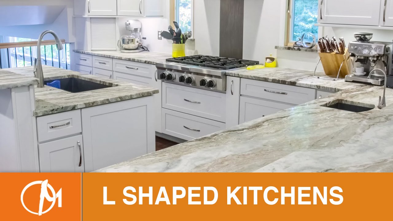 L Shaped Kitchens With Islands Design Montage Youtube