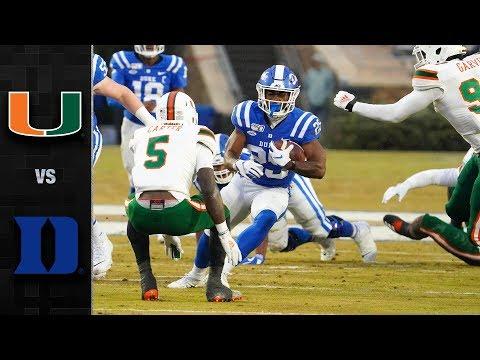 Miami Vs. Duke Football Highlights (2019)