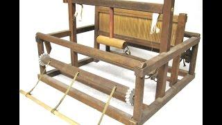 Vintage Wooden Table Top Weaving Loom Portable