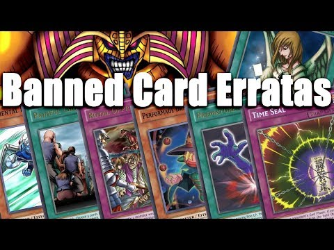 LET'S RATE FAN MADE BANNED YUGIOH CARD ERRATA! DO THEY BALANCE THE CARDS?