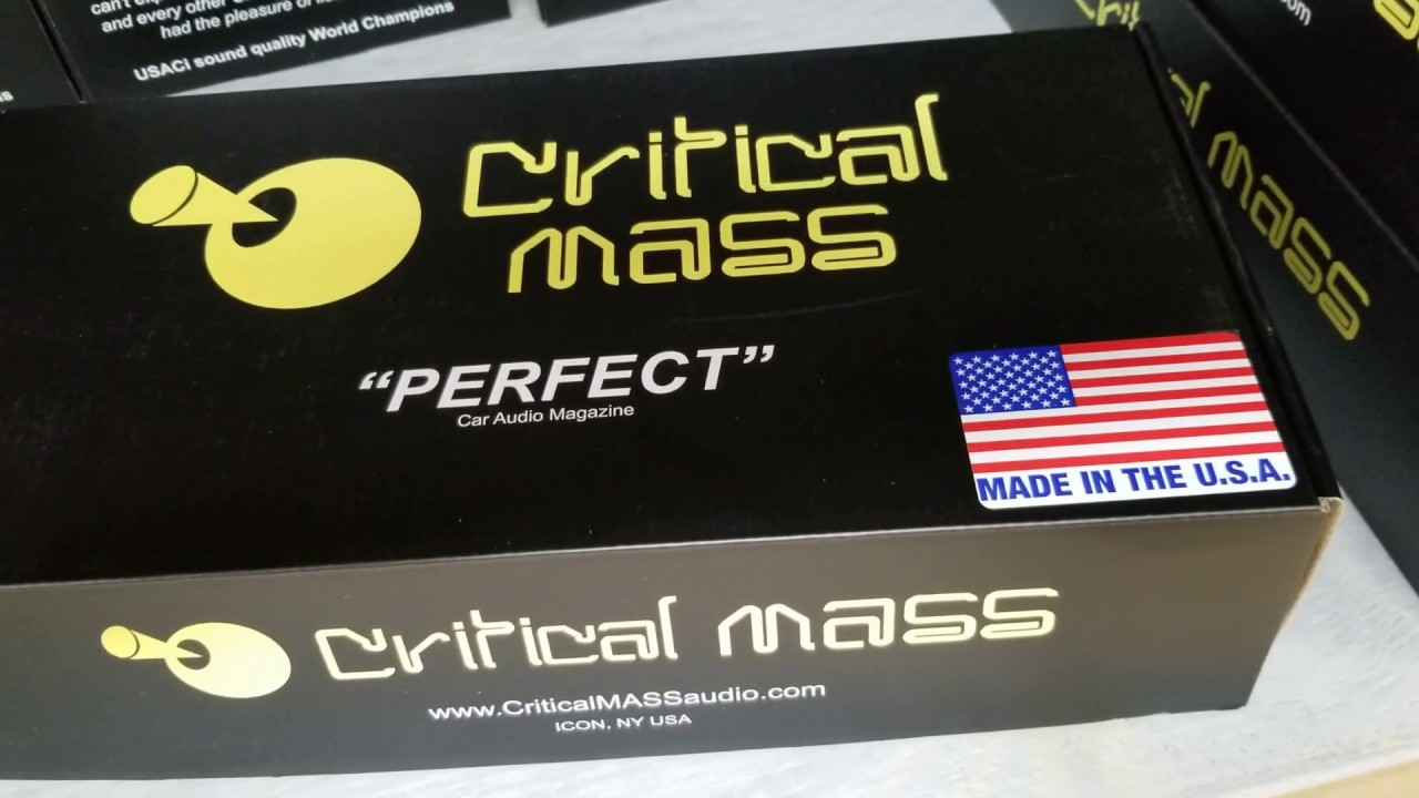 Critical Mass Audio SS6 Best 2-way speaker - YouTube