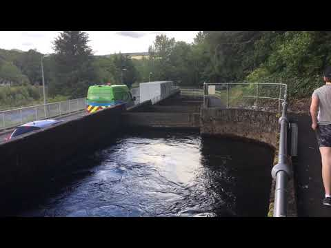 Pitlochry Hydro Power Station And Fish Ladder In Scotland UK