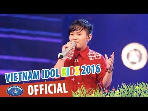 VIETNAM IDOL KIDS - THẦN TƯỢNG ÂM NHẠC NHÍ 2016 - VÒNG STUDIO - CHÀO BUỔI SÁNG - THIÊN PHÚC