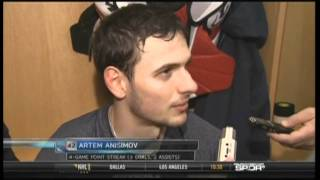 Artem Anisimov apologizes to Tampa Bay