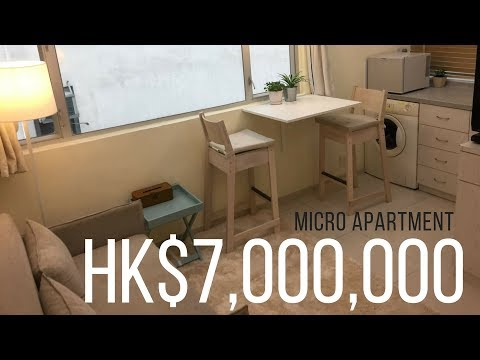Hong Kong Apartment Tour 24sqm for $7,000,000 hkd