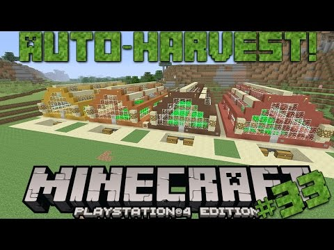 Minecraft PS4 Survival #33 | Auto-Harvest Greenhouses!