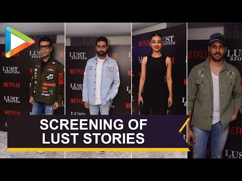 Karan Johar, Abhishek Bachchan, Sidharth Malhotra & Others @Lust Stories Premiere