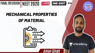 Mechanical Properties of Material   NEET Physics   NEET 2020   Aman Singh