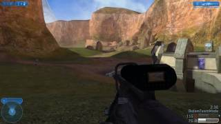 Halo 2 PC - Multiplayer Sniper Gameplay on Coagulation Part 2 [HD720p]