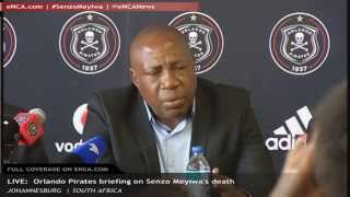 LIVE: Orlando Pirates briefing on Senzo Meyiwa