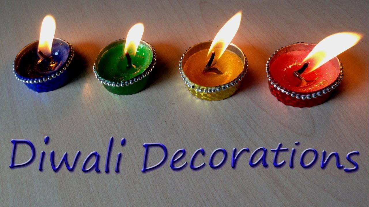 tea lights diy diwali decorations last minute life hack christmas lights youtube