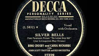1st RECORDING OF: Silver Bells - Bing Crosby & Carol Richards (1950)