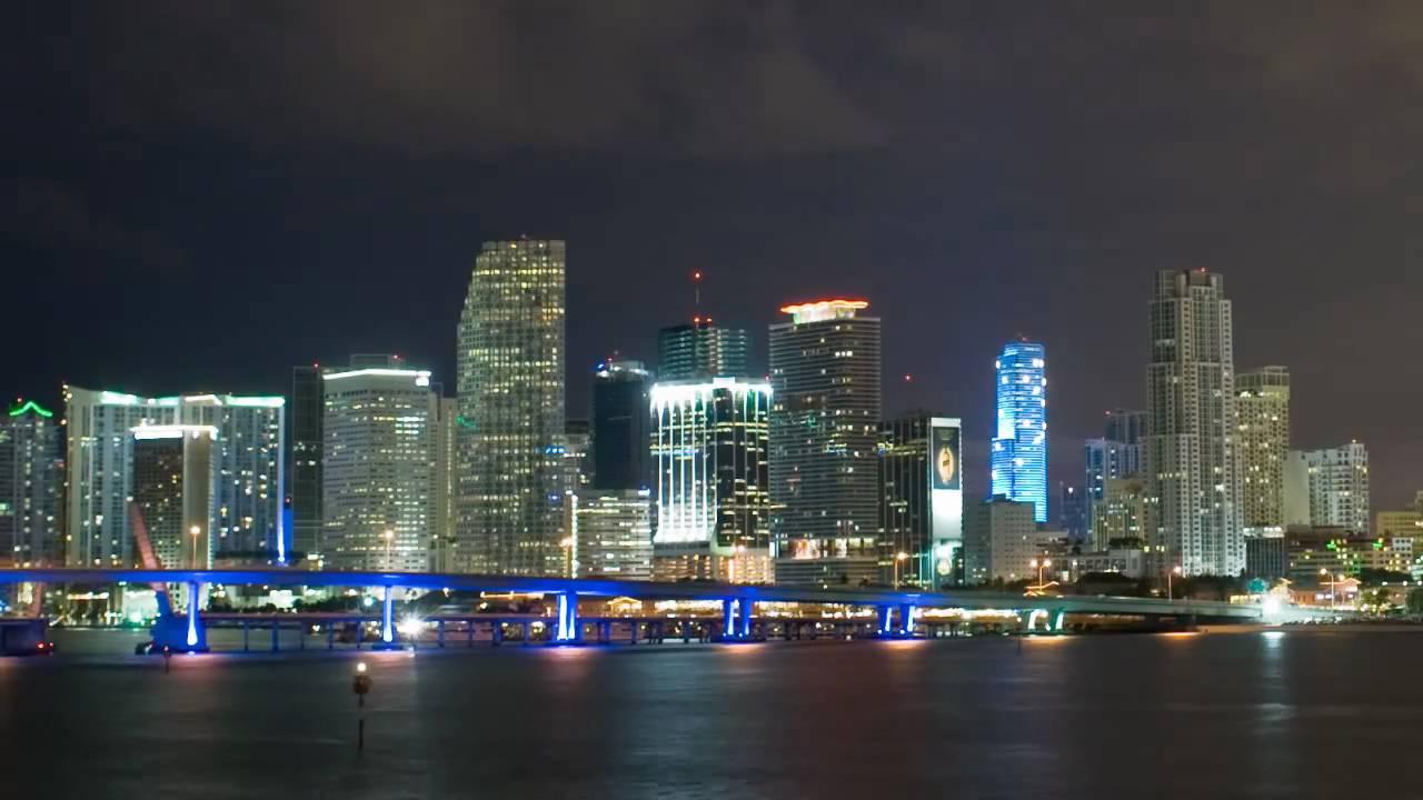 Miami Skyline Timelapse With Nikon D3