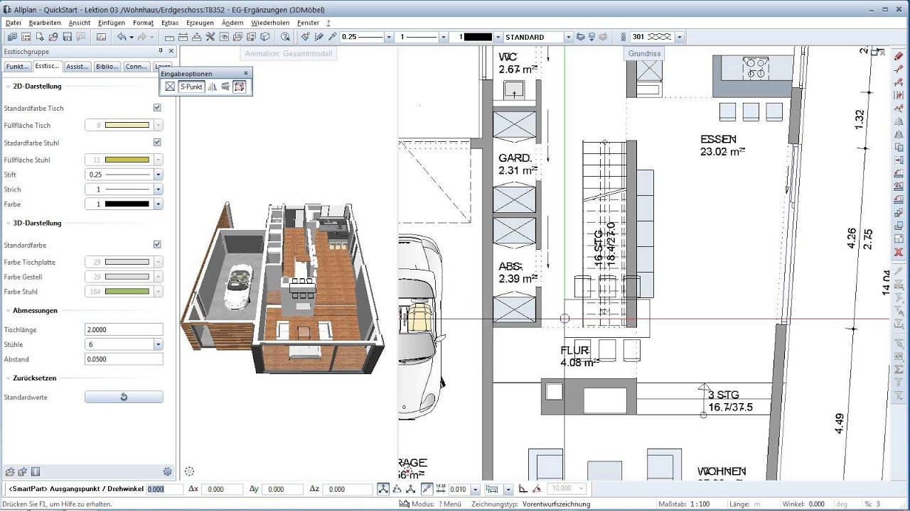 allplan quickstart de lektion 3 m blierung mit. Black Bedroom Furniture Sets. Home Design Ideas