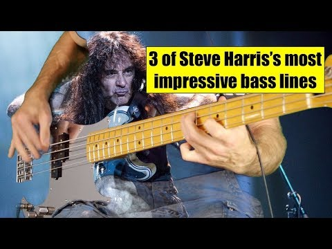 3 Of Steve HARRIS's Most Impressive Bass Lines With Genuine Drums!