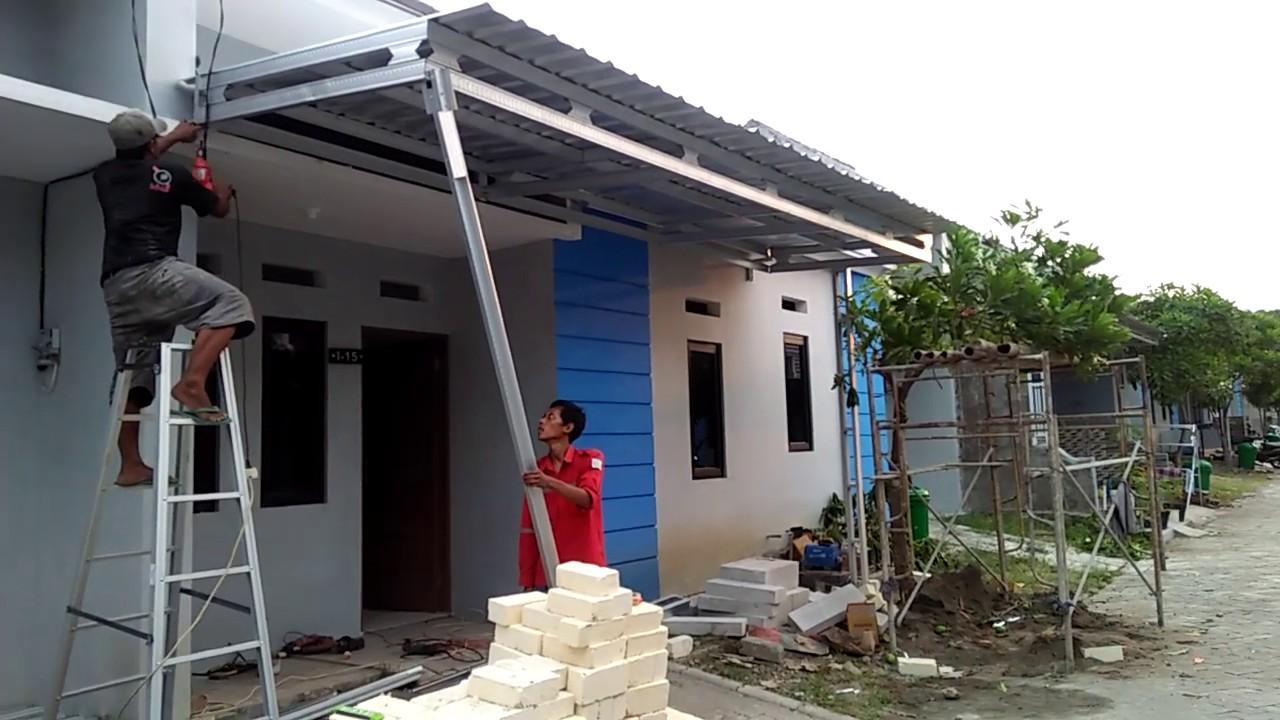 youtube cara membuat kanopi baja ringan pemasangan rumah subsidi type 36 60