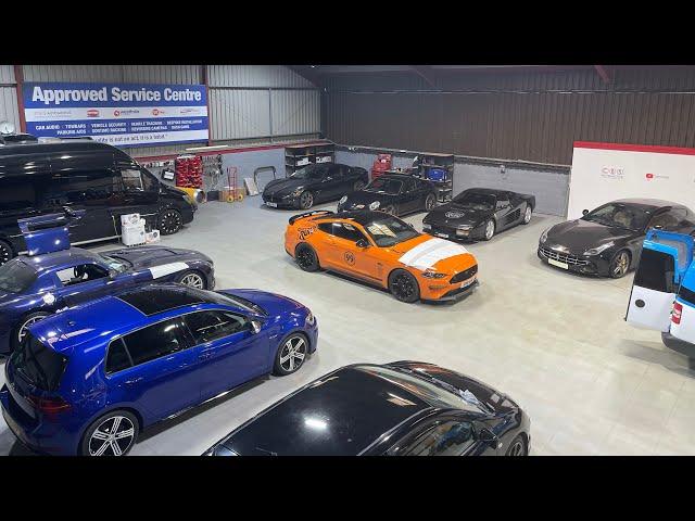 Workshop Tour | SLS Black Series, Ferrari's, Golf R and our new van